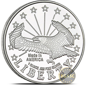 Monster Box of 1 oz SilverTowne Eagle Design Silver Rounds - Image