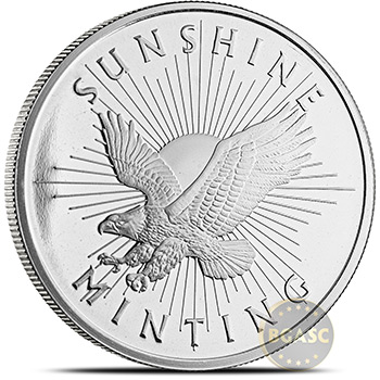 1 oz Silver Rounds Sunshine Minting .999 Fine Silver Bullion