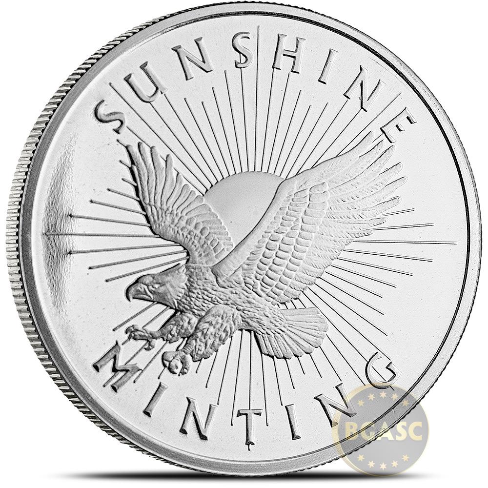 Buy 1 oz Silver Rounds Sunshine Minting .999 Fine Silver Bullion - 1 ...
