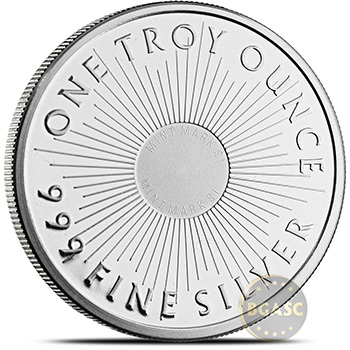 Sunshine Minting 1 oz Silver Round Bullion .999 Fine Silver - Image
