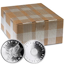 Monster Box of 1 oz Sunshine Minting Silver Rounds .999 Fine Silver Bullion with Security Feature (500 Rounds)