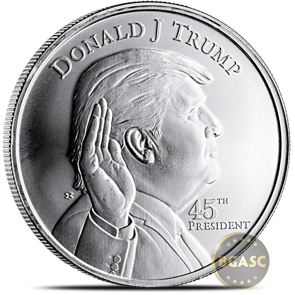 1 Oz Silver Donald Trump Rounds 999 Fine Silver Bullion
