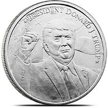 1 oz Silver Donald Trump 2020 Rounds .999 Fine Silver Bullion
