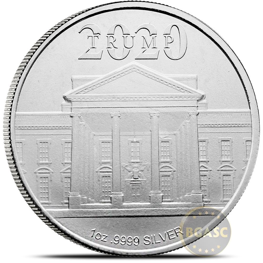 Trump Campaign Medal Ultra High Relief 50 mm 2 oz .999 Silver BU Round W//COA
