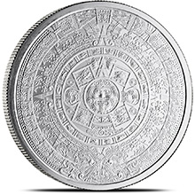 2 oz Silver Rounds Aztec Calendar .999 Fine Silver Bullion