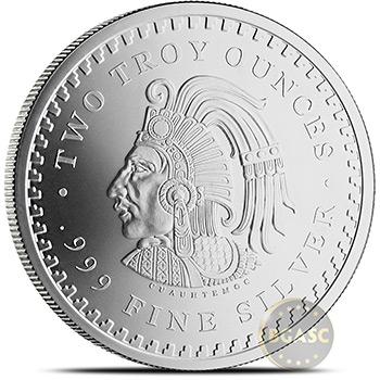 2 oz Silver Rounds Aztec Calendar .999 Fine Silver Bullion - Image