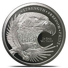 2 oz Silver Rounds Eagle Design by GSM Golden State Mint .999 Fine Silver Bullion