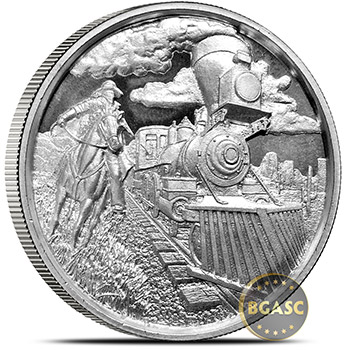 2 oz Silver Rounds Lawless Train Ultra High Relief .999 Fine Bullion