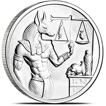 2 oz Silver Rounds Anubis Ultra High Relief .999 Fine Bullion