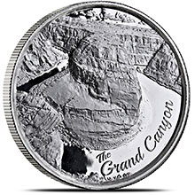 2 oz Silver Rounds Grand Canyon Ultra High Relief .999 Fine Bullion (Secondary Market)