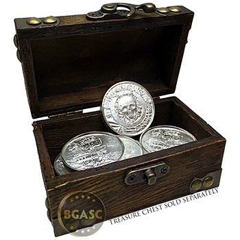 2 oz Silver Privateer Ultra High Relief Pirate Rounds - Image