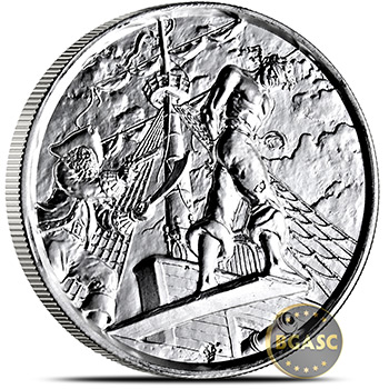 2 oz Silver Rounds The Plank Privateer Ultra High Relief Rounds .999 Fine Bullion (P5)