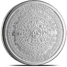 5 oz Silver Rounds Aztec Calendar .999 Fine Silver Bullion