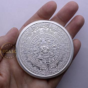 5 oz Silver Rounds Aztec Calendar .999 Fine Silver Bullion - Image