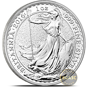 1 oz Silver Britannia .999 Fine Silver Bullion Coin BU (Random Year)