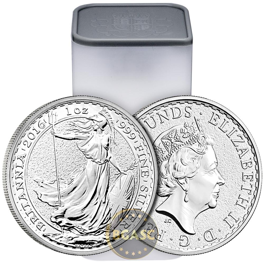 Where to buy silver - 2016 1 Oz Silver Britannia 999 Fine Silver Bullion Coin Brilliant Uncirculated Image