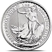 2018 1 oz Silver Britannia .999 Fine Silver Bullion Coin Brilliant Uncirculated