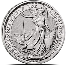 2019 1 oz Silver Britannia .999 Fine Silver Bullion Coin Brilliant Uncirculated