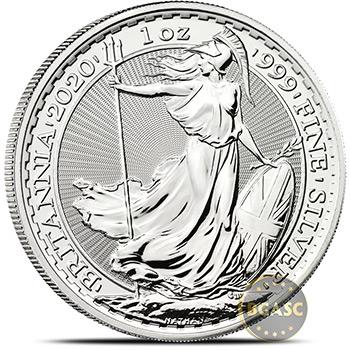 2020 1 oz Silver Britannia .999 Fine Silver Bullion Coin Brilliant Uncirculated