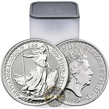 2020 1 oz Silver Britannia .999 Fine Silver Bullion Coin BU