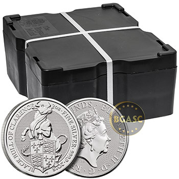 2 oz Silver British Queen's Beasts Bullion Coin - The Black Bull of Clarence - Image