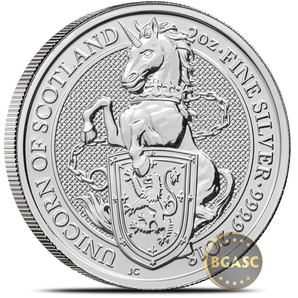 Buy 2018 2 Oz Silver British Queen S Beasts Bullion Coin