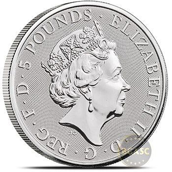 2020 2 oz Silver British Queen's Beasts Bullion Coin - The White Horse of Hanover - Image