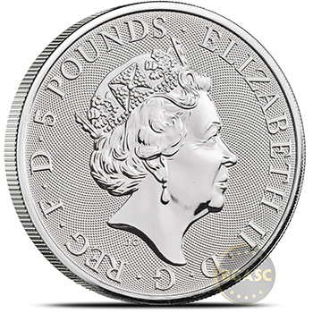 2021 2 oz Silver British Queen's Beasts Bullion Coin - Series Completer - Image