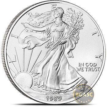 1989 1 oz American Silver Eagle Bullion Coin .999 Fine - Uncirculated
