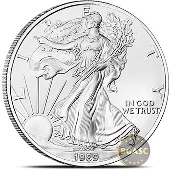 1989 1 oz American Silver Eagle Bullion Coin .999 Fine Brilliant Uncirculated