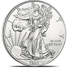 1993 1 oz American Silver Eagle Bullion Coin .999 Fine - Uncirculated