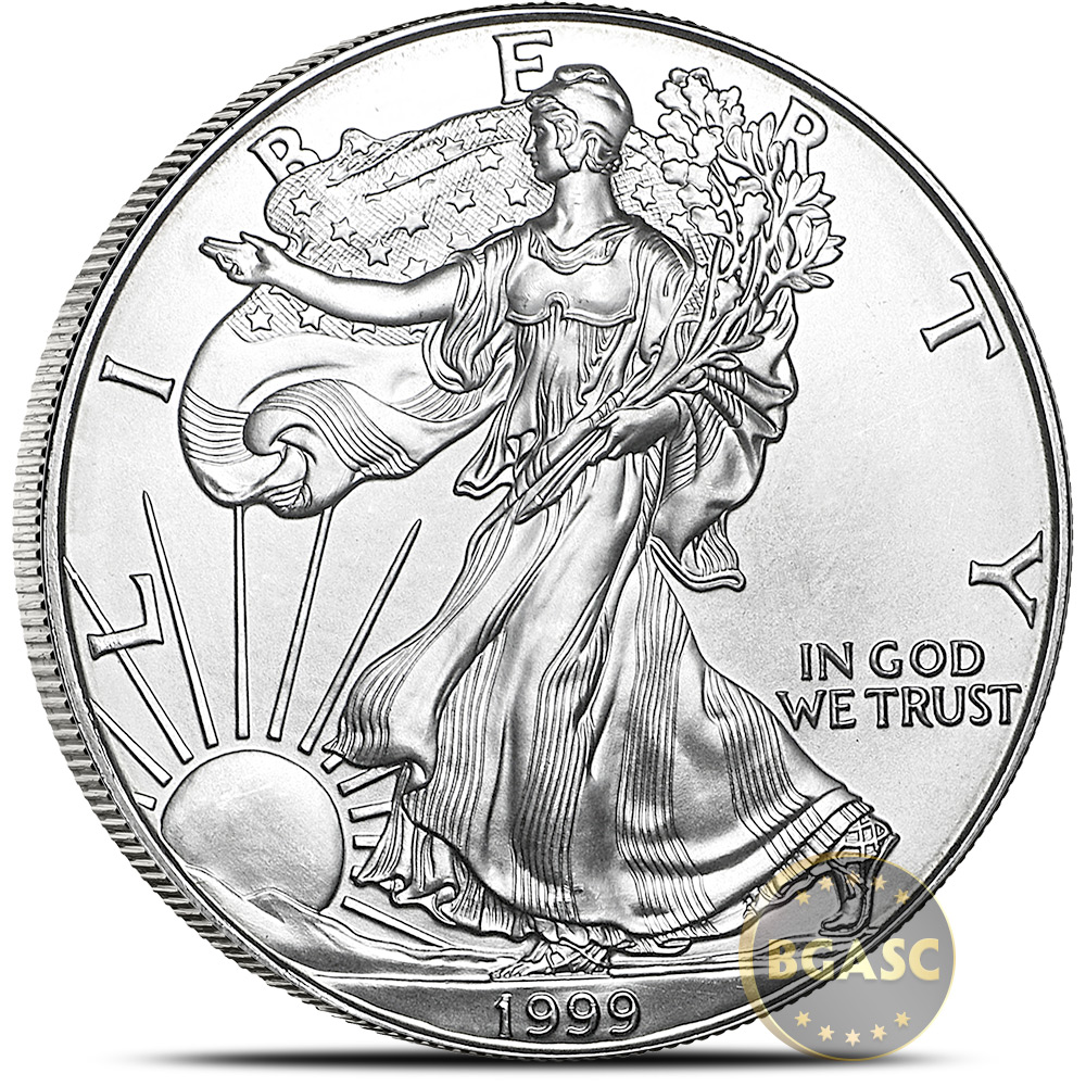 Buy 1999 1 Oz American Silver Eagle Bullion Coin 999 Fine