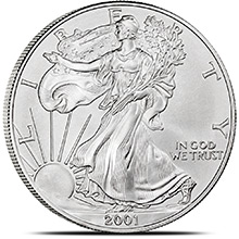 2001 1 oz American Silver Eagle Bullion Coin .999 Fine - Uncirculated