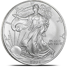 2004 1 oz American Silver Eagle Bullion Coin .999 Fine - Uncirculated