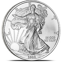 2008 1 oz American Silver Eagle Bullion Coin .999 Fine - Uncirculated