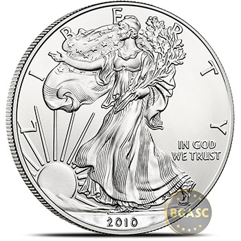 2010 1 oz American Silver Eagle Bullion Coin .999 Fine Uncirculated - Image