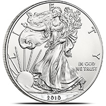 2010 1 oz American Silver Eagle Bullion Coin .999 Fine Brilliant Uncirculated