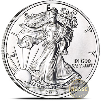 2012 1 oz American Silver Eagle Bullion Coin .999 Fine - Uncirculated