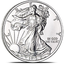 2012 1 oz American Silver Eagle Bullion Coin .999 Fine - Uncirculated
