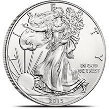 2015 1 oz American Silver Eagle Bullion Coin .999 Fine - Uncirculated
