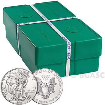 2015 1 oz American Silver Eagles Coin Uncirculated Bullion .999 Fine Silver Dollar - Image