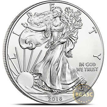 2016 1 oz American Silver Eagle Bullion Coin .999 Fine - Uncirculated