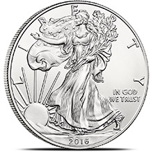 2016 1 oz American Silver Eagle Bullion Coin .999 Fine - Brilliant Uncirculated
