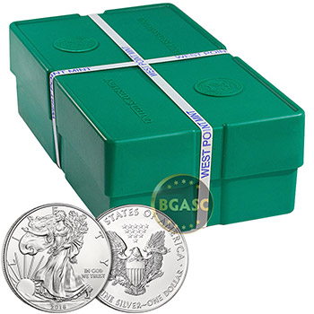 2016 1 oz American Silver Eagles Coin Brilliant Uncirculated Bullion .999 Fine Silver Dollar - Image