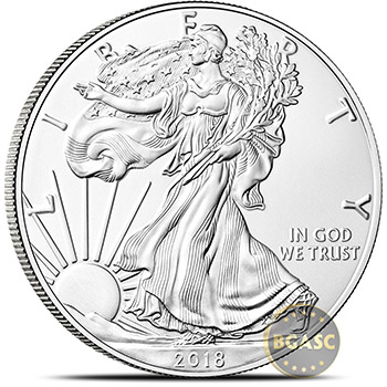 2018 1 oz American Silver Eagle Bullion Coin .999 Fine Brilliant Uncirculated - Image
