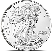 2020 1 oz American Silver Eagle Bullion Coin .999 Fine Brilliant Uncirculated (ESTIMATED SHIP DATE: JAN-27-2020)