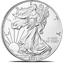 2021 1 oz American Silver Eagle Bullion Coin .999 Fine Brilliant Uncirculated - Type 1