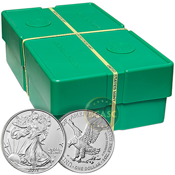 2021 1 oz American Silver Eagle Bullion Coin .999 Fine Brilliant Uncirculated - Image