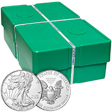 Mint Sealed Monster Box of 2021 1 oz American Silver Eagles 500 Bullion Coins Brilliant Uncirculated