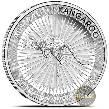 2019 Australian 1 oz Silver Kangaroo .9999 Fine Brilliant Uncirculated